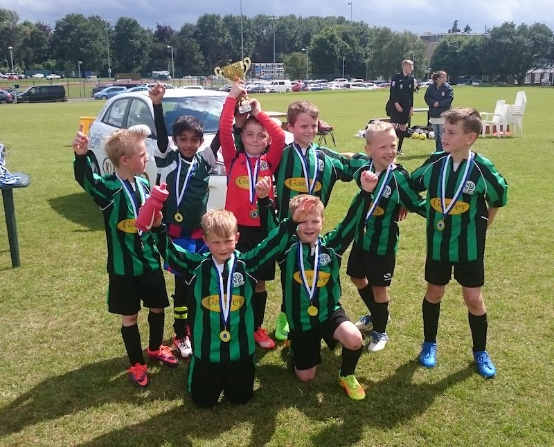 Nova Storm took the title at the Shrewsbury Up and Comers Under 8s Tournament 2017