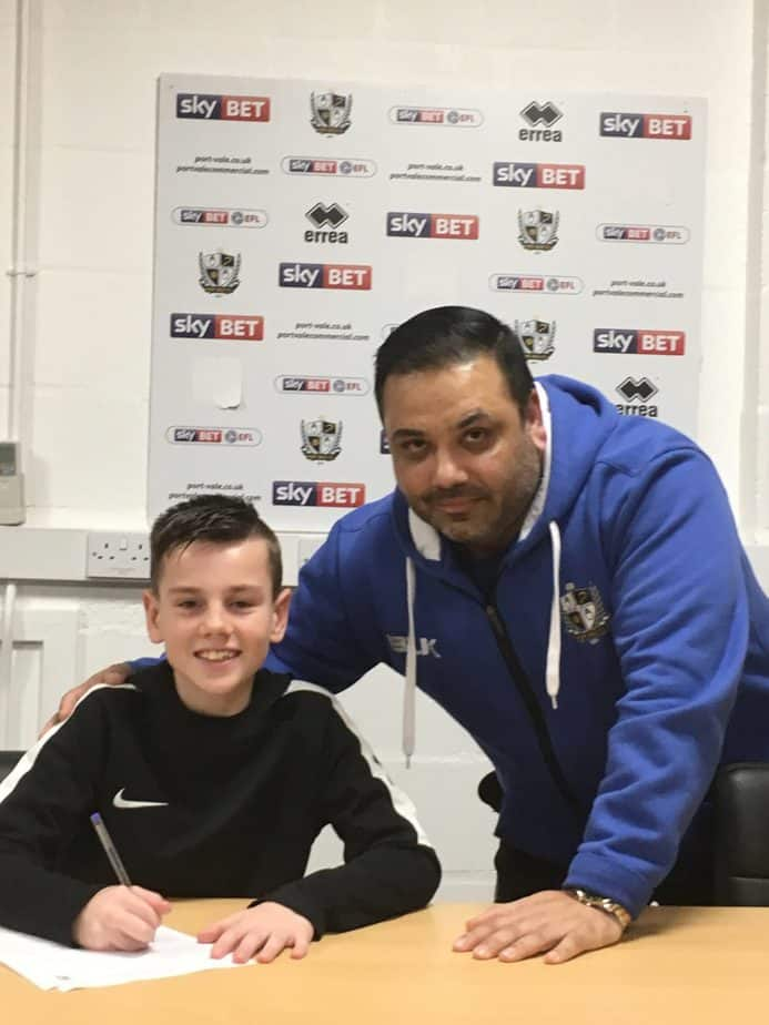 Nova United youngster signs for Port Vale